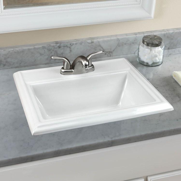 Square Drop In Bathroom Sink : ... Square 23-1/8