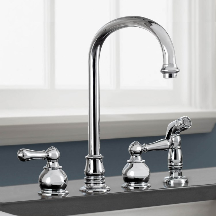 Buy American Standard Hampton Two Handle Bottom Mount High Arc Kitchen Faucet With