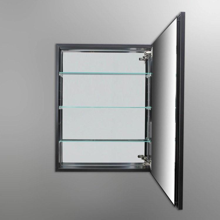 Buy robern plw2430bbm pl series 23 1 4 flat dual mount for Wood frame medicine cabinet