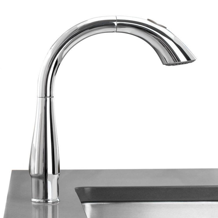 buy grohe 32 071dc0 k4 single handle pull out kitchen