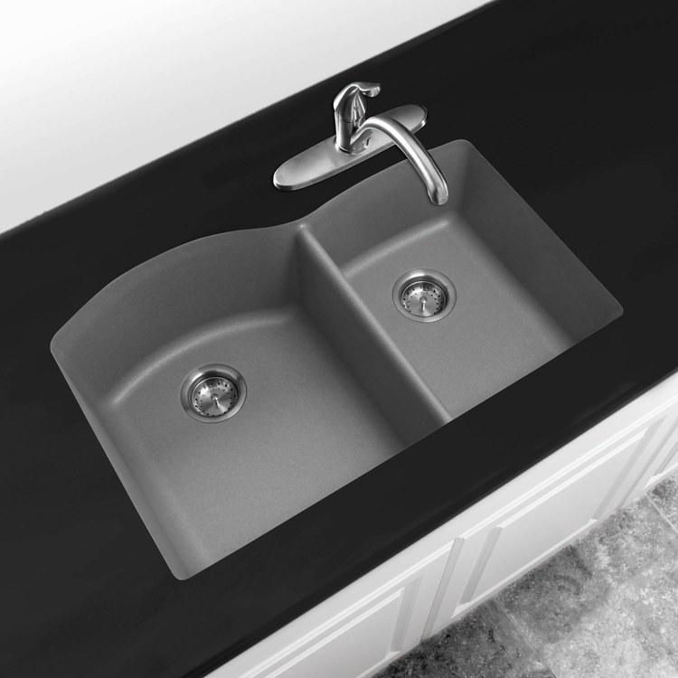 Buy blanco 440178 diamond 32 undermount double bowl for Silgranit bathroom sinks
