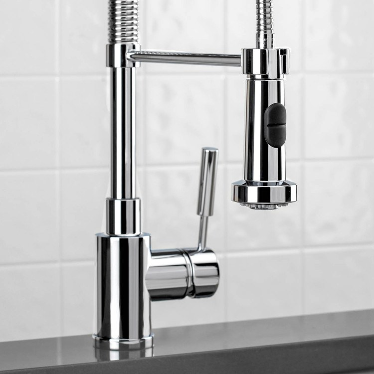 blanco meridian semi professional kitchen faucet white gold