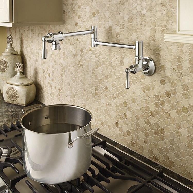 Buy Moen S664 Two Handle Wall Mount Pot Filler Faucet Riverbend Home