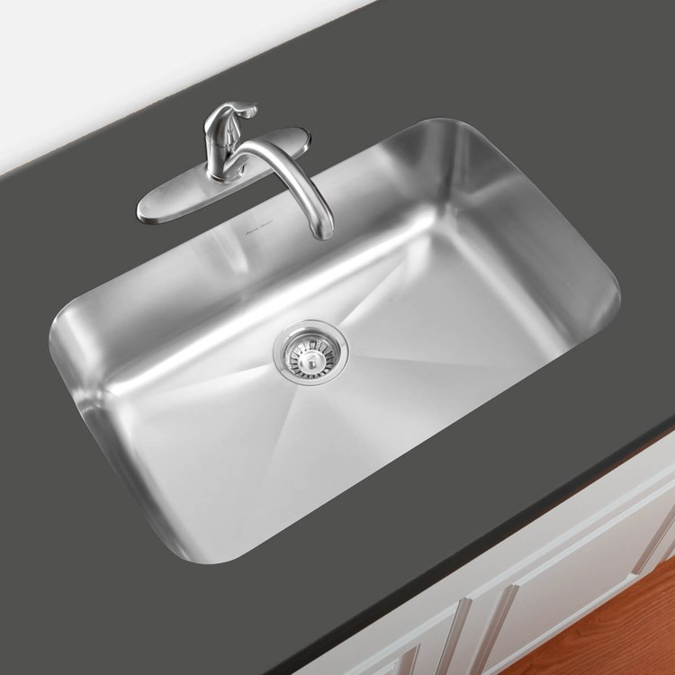 Buy american standard prevoir 30 1 8 stainless steel single bowl undermount - American made stainless steel sinks ...