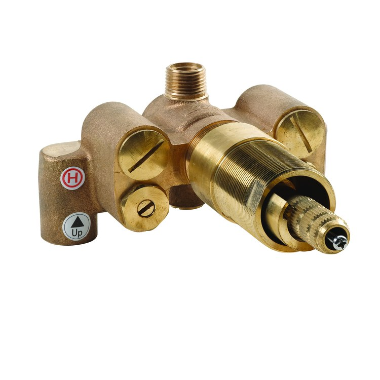 U Type Chrome Electric Water Heater Mixing Valve Single: Rough-In Valve