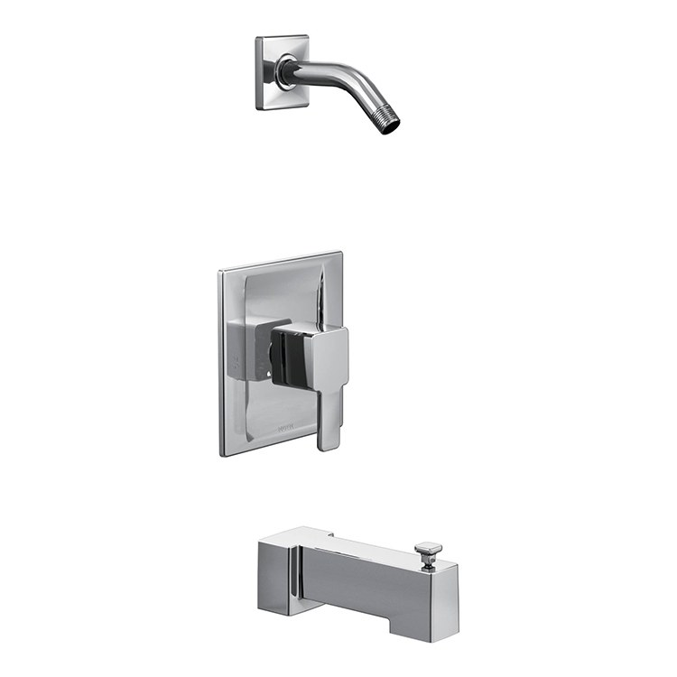 Moen ts2713nh 90 degree posi temp tub and shower trim for Moen 90 degree bathroom faucet