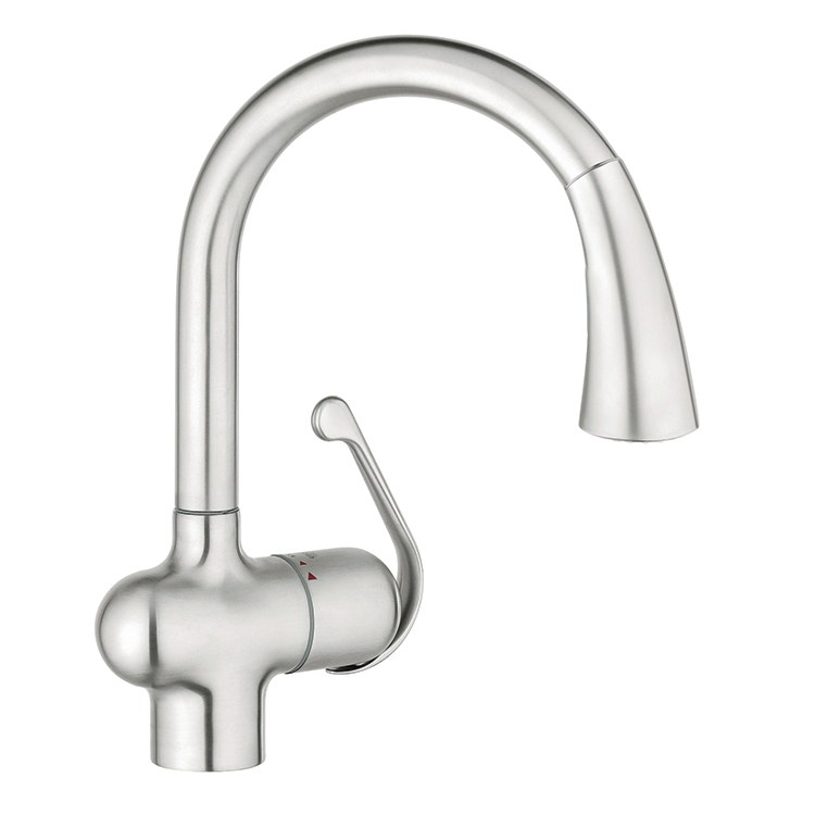 Buy Grohe 33755SD1 Ladylux Single Handle Pull Down Kitchen Faucet Riverbe