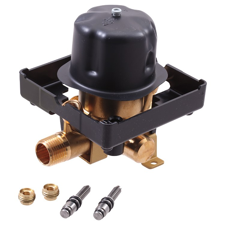 All Copper Universal Water Heater Mixing Valve U Type: MultiChoice Rough-In Valve