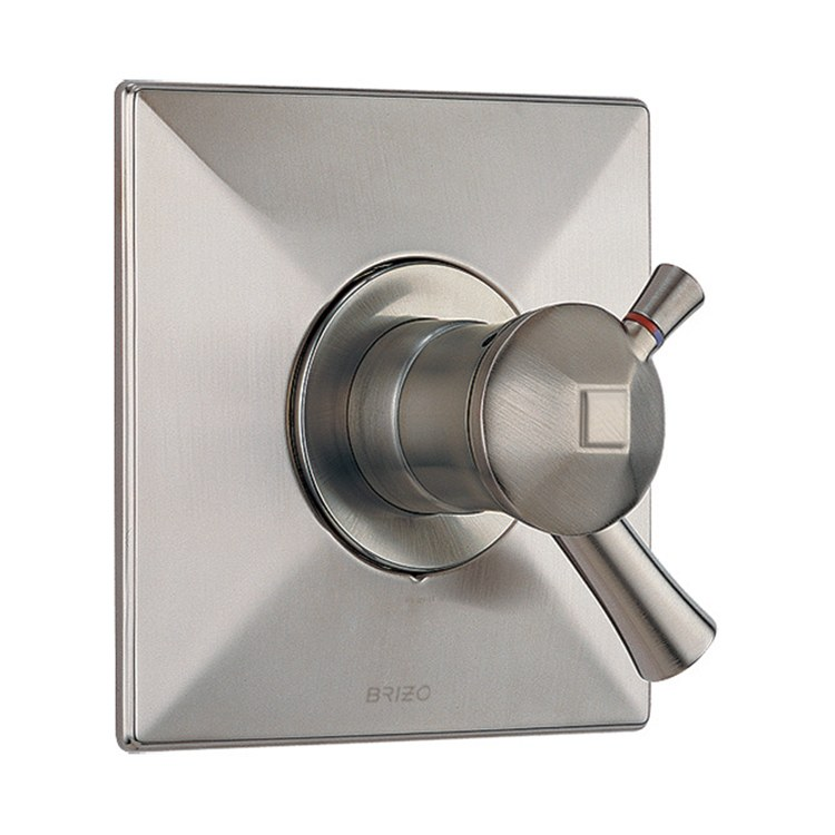 U Type Chrome Electric Water Heater Mixing Valve Single: Vesi Thermostatic Trim
