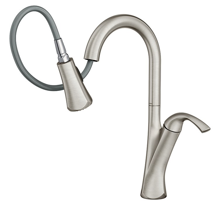Buy Moen 9124srs Notch Single Handle High Arc Pull Down