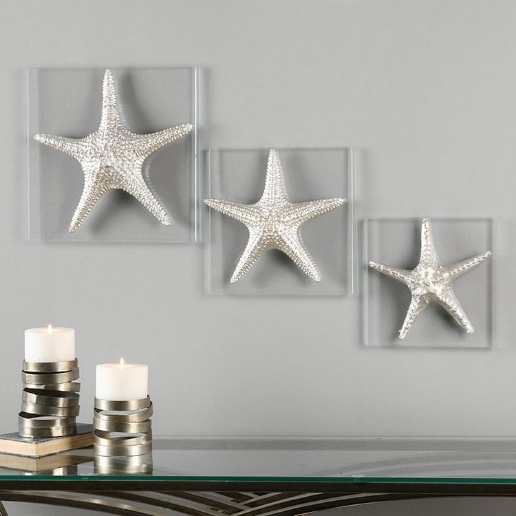 Large Starfish Wall Decor : Buy uttermost silver starfish wall art s