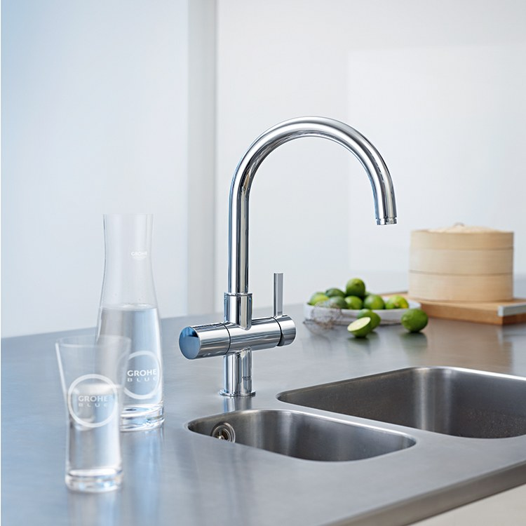 buy grohe 31251001 blue chilled and sparkling water filtration system starter kit riverbend home. Black Bedroom Furniture Sets. Home Design Ideas