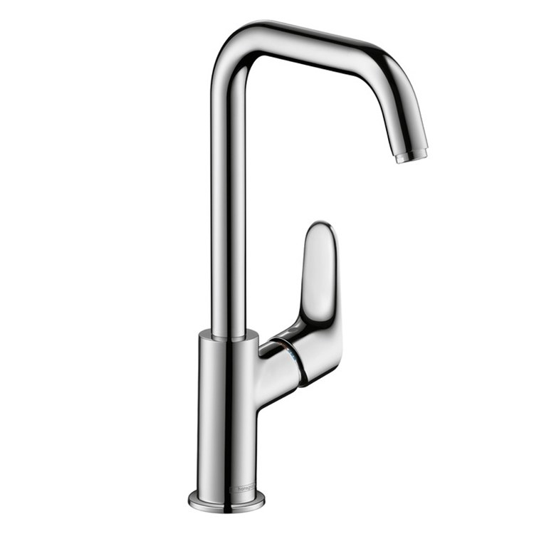 buy hansgrohe 31609001 focus e 240 single handle single hole tall faucet riverbend home. Black Bedroom Furniture Sets. Home Design Ideas
