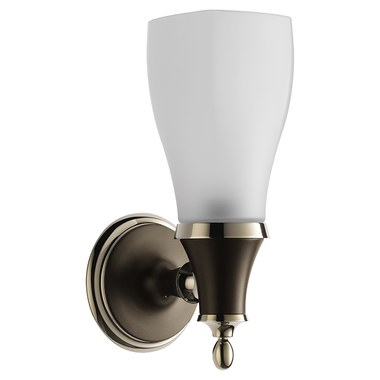 Brizo 797085 Pnco Charlotte Single Light Bathroom Wall Sconce With Gl Diffuser