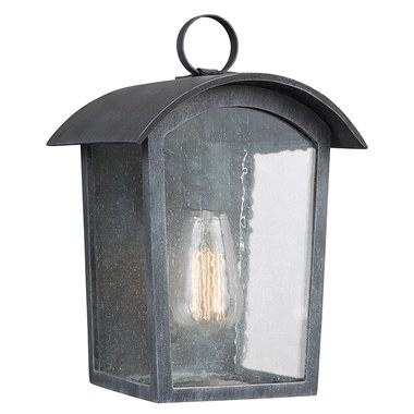 Feiss Ol13300ablk Hodges Single Light Small Outdoor Wall Lantern