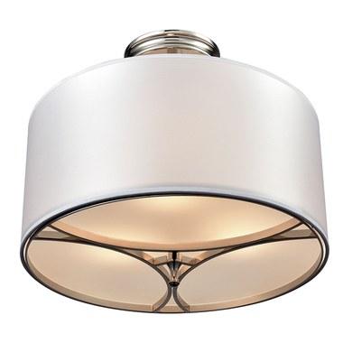 Elk Lighting 10263 3 Pembroke Three Light Semi Flush Mount Ceiling Fixture