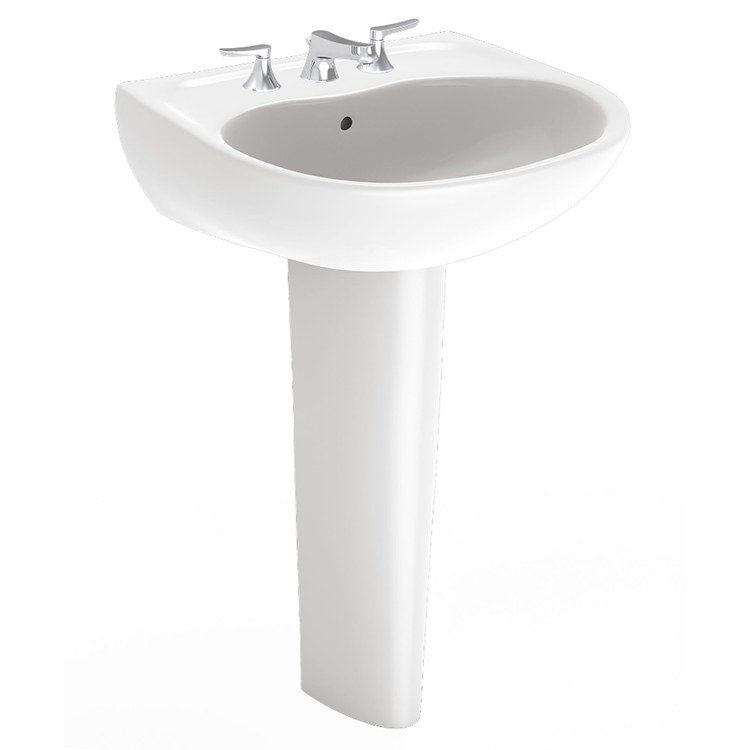 Toto Lpt241g 01 Supreme 22 7 8 Pedestal Sink With One Hole