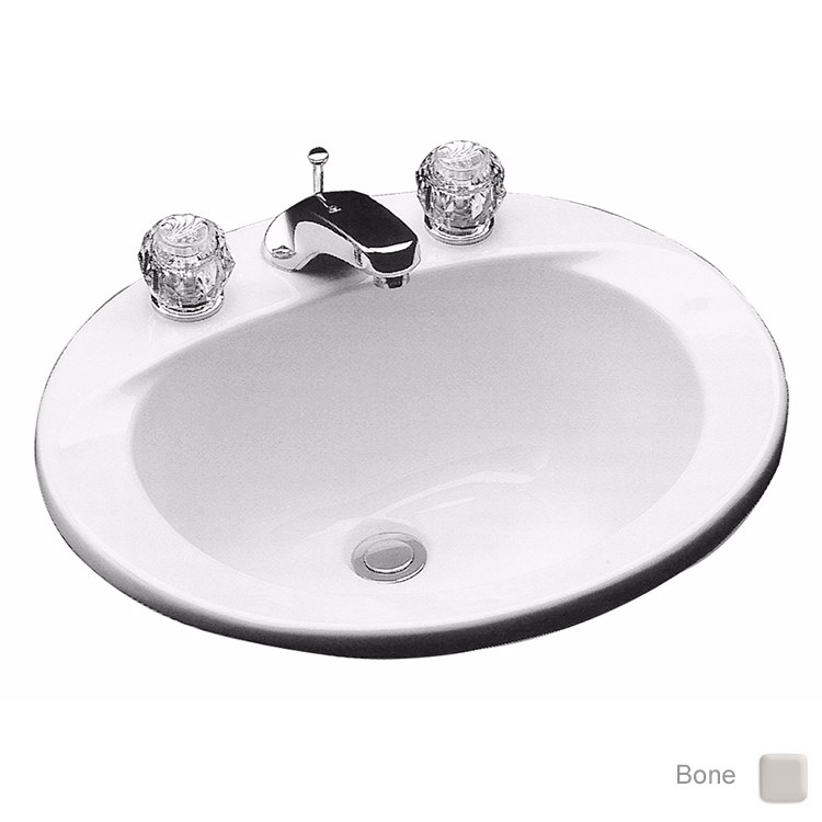 Commercial 19 Round Drop In Bathroom Sink With One Hole