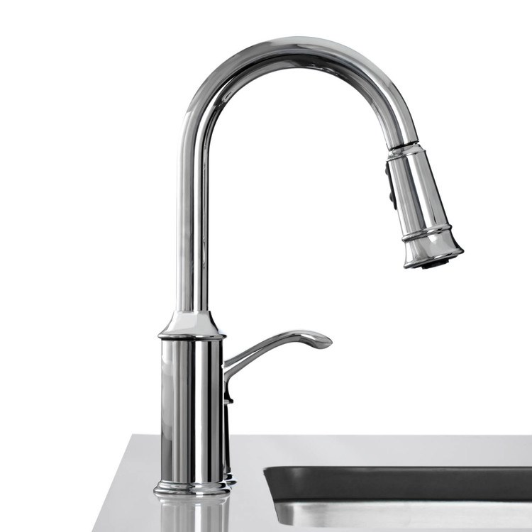Moen 7590c aberdeen kitchen faucet for Craftsman style kitchen faucets