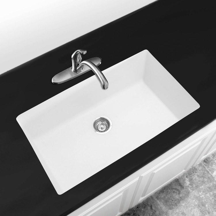 White Kitchen Sink Undermount blanco 440150 - precis kitchen sink