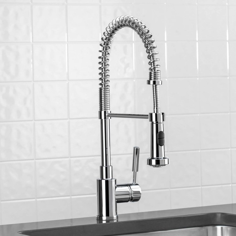 blanco meridian semi professional kitchen faucet buy blanco 440558 meridian single handle semi professional pull down kitchen faucet riverbend home 1279