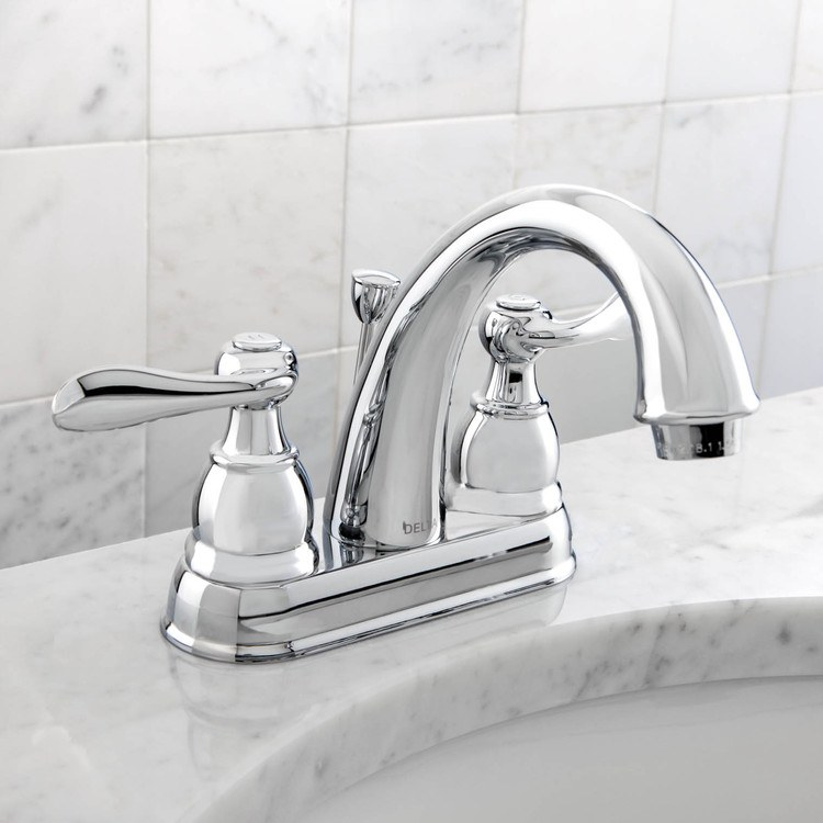 Delta b2596lf foundations windemere lavatory faucet for Delta windemere bathroom faucet