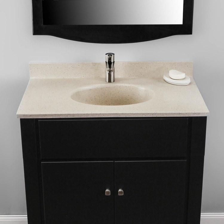 31x19 Vanity Top With Sink: Ellipse Vanity Top