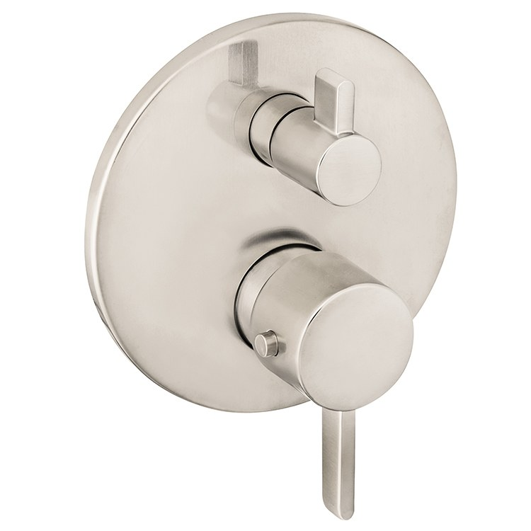 Hansgrohe 04231820. Ecostat S Thermostatic Shower Valve Trim With Dual  Outlet Volume Control And Diverter
