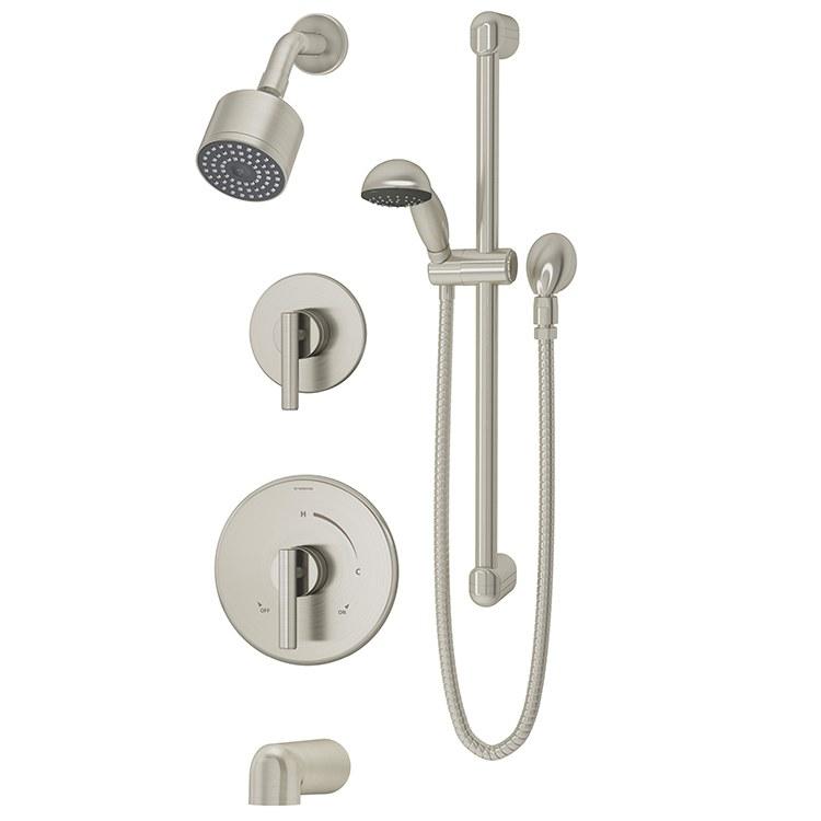 Symmons 3506-H321-V-CYL-B-STN - Dia Tub and Shower System
