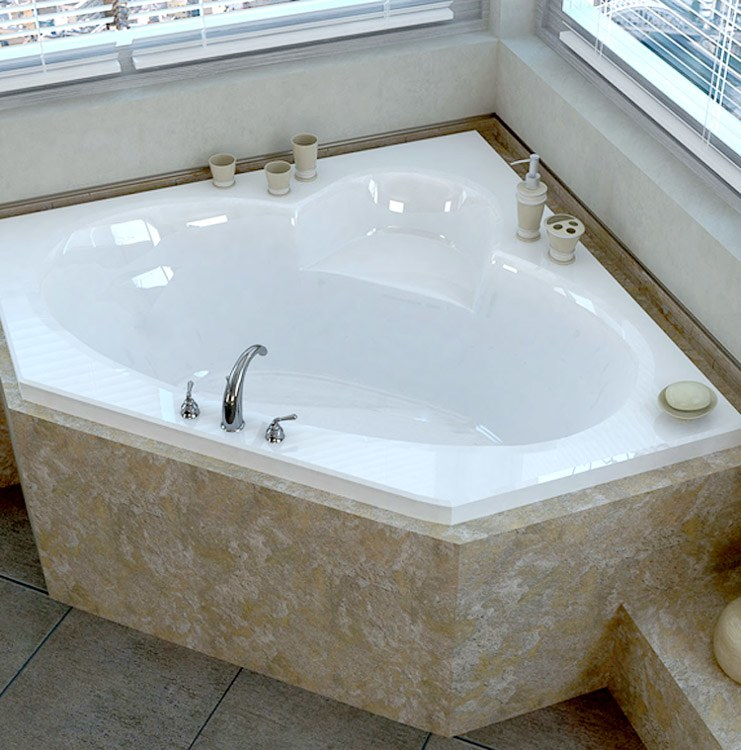 Atlantis 6060s sublime soaking tub for Soaking tub vs bathtub