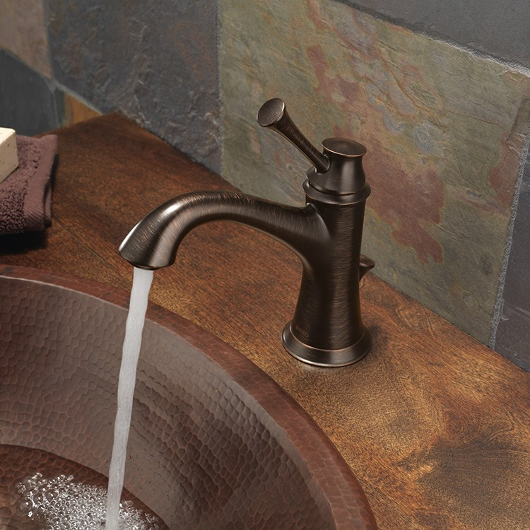 Brizo 65005lf bn baliza lavatory faucet for Baliza faucet
