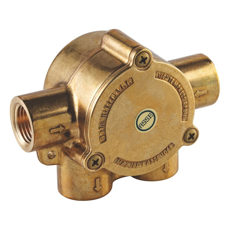 U Type Chrome Electric Water Heater Mixing Valve Single: Pressure Balance Valve