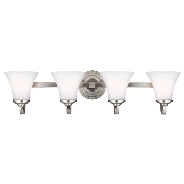 Feiss vs22504 sn hamlet four light bathroom vanity fixture