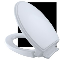 Toto SS154#01 Traditional Elongated SoftClose Toilet Seat with Lid