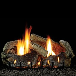 "White Mountain Hearth LS24SRAO Aged Oak 24"" Refractory Concrete 7-Log Set"