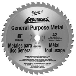"Milwaukee 48-40-4515 8"" Circular Saw Blade with 42 Dry Cut Cermet Tipped Teeth"