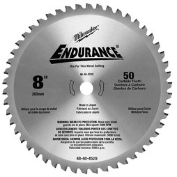 "Milwaukee 48-40-4520 8"" Circular Saw Blade with 50 Dry Cut Cermet Tipped Teeth"