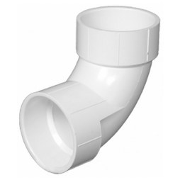"Commodity PVC DWV Fittings 00300-0800 Elbow 90DEG 1-1/2"" PVC DWV S40 HubxHub 300"