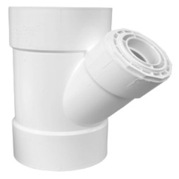 "Commodity PVC DWV Fittings 00601-1200 Wye 3x3x1-1/2"" PVC DWV S40 Hub 601"