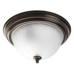 Progress P3817-20 Melon Two-Light Flush Mount Ceiling Lighting Fixture