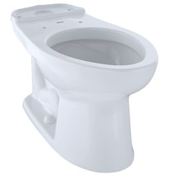 Toto C744EL#01 Eco Drake Close Coupled Elongated Universal Height Toilet Bowl Only