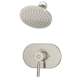 Symmons 4301-STN Sereno Shower System with Pressure Balancing Valve