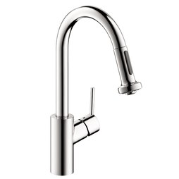 Hansgrohe 04286000 Talis S Single Handle Pull Down Prep Faucet