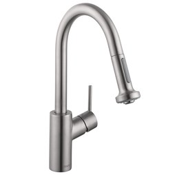 Hansgrohe 04286800 Talis S Single Handle Pull Down Prep Faucet