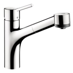 Hansgrohe 06462000 Talis S Single Handle Pull Out Kitchen Faucet