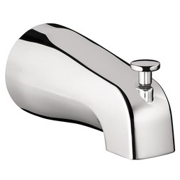 Hansgrohe 06501000 Commercial Wall Mount Tub Spout with Diverter