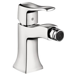 Hansgrohe 31275001 Metris C Single Handle Single Hole Bidet Faucet with Pop-Up Drain