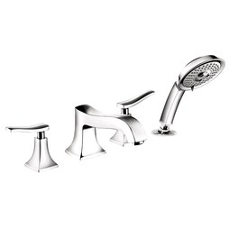 Hansgrohe 31314001 Metris C Two Handle Roman Tub Filler With Handshower