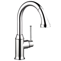 Hansgrohe 04216000 Talis C Single Handle Pull Down Prep Faucet with Dual Spray