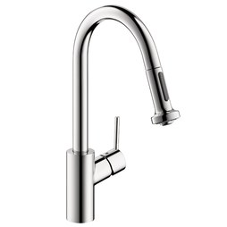 Hansgrohe 14877001 Talis S HighArc Single Handle Pull Down Kitchen Faucet